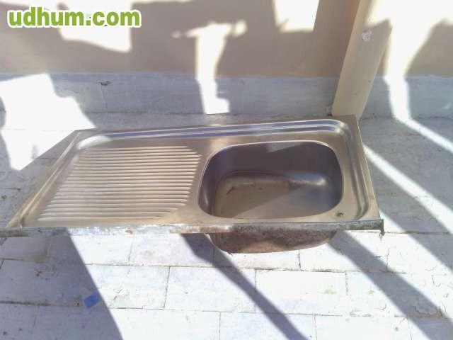 Vendo fregadero aluminio de una pieza for Fregaderos de aluminio