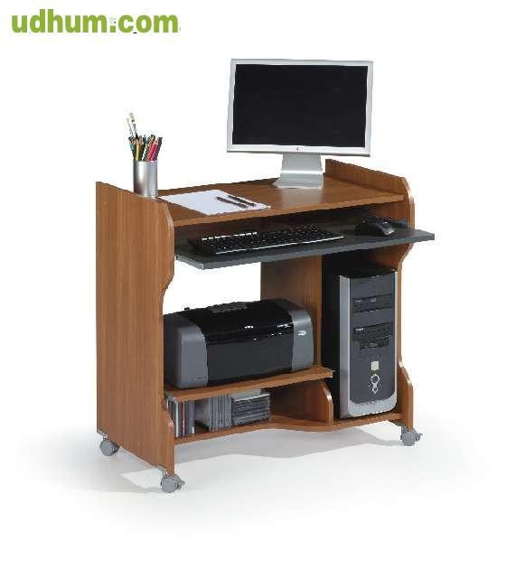Mesa despacho ordenador pc blanca for Mesa de ordenador blanca