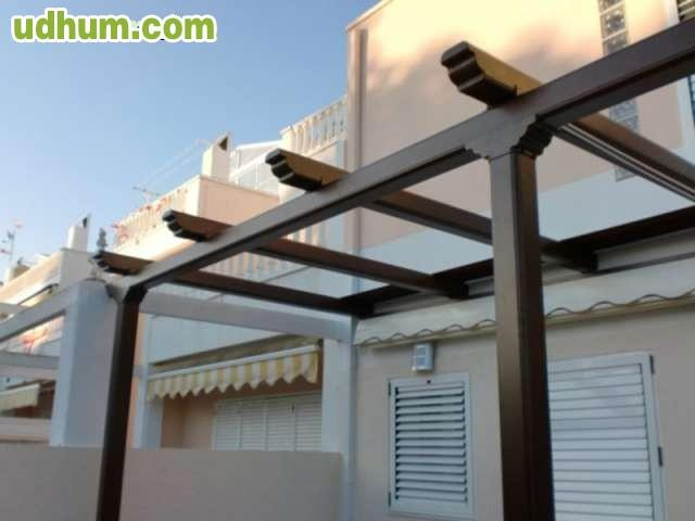 Pergola aluminio con toldo desde 970 eur - Aluminio para pergolas ...