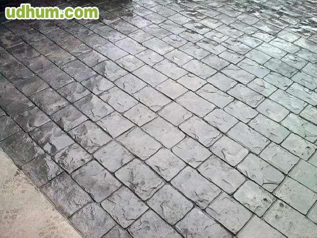Pavimento de hormigon impreso valencia 2 Cemento estampado fotos