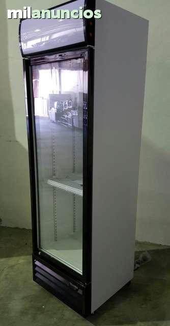 Nevera vertical puerta cristal con luz - Nevera doble puerta ...