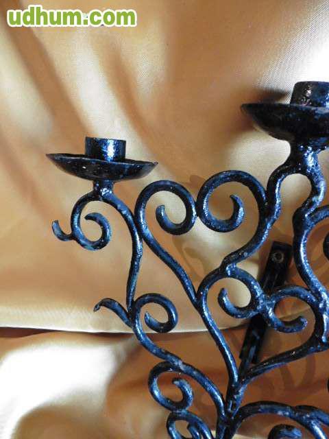Dos candelabros vintage - Milanuncios chimeneas de hierro ...