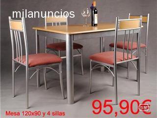 Mesa de cocina extensible al coste 1 for Liquidacion mesas sillas jardin