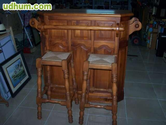 Mueble barra bar de madera for Mueble bar madera