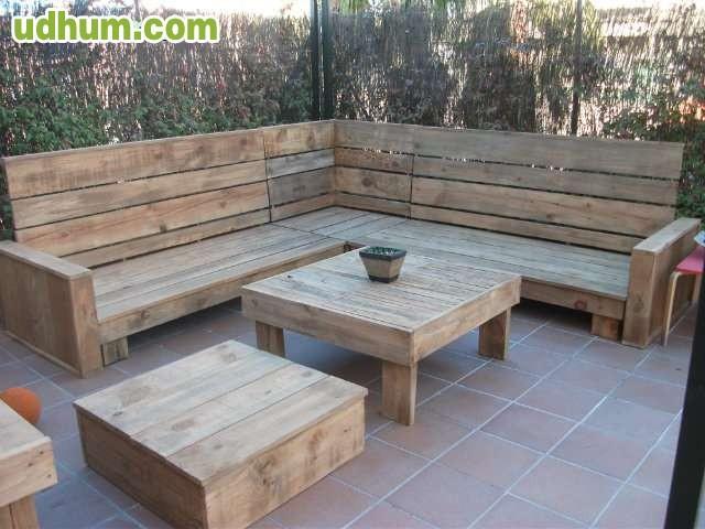 Sofa sillon esquinero de madera reciclad - Sillon madera exterior ...