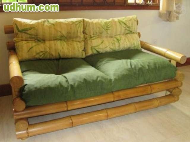Camas bambu bajo pedido for Sillones que se hacen cama