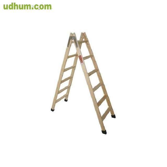 Escaleras de madera en tijera 5 pelda os for Escalera tijera de madera