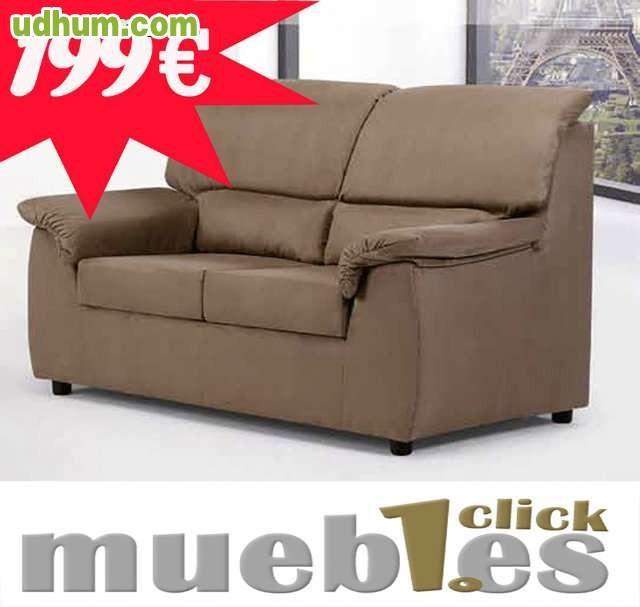 Sofa 2 plazas muebles 1 click 199 - Muebles 1 click madrid ...