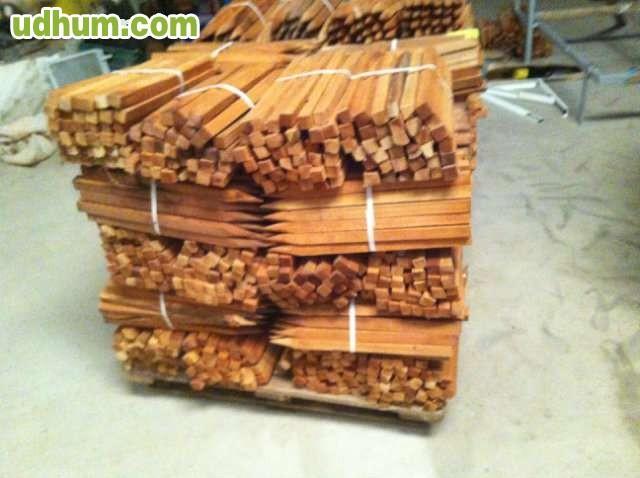 Estacas de madera 50 cm x3 cm - Estacas de madera para cierres ...