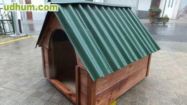 Caseta madera para perro xxl nueva for Tejado madera maciza