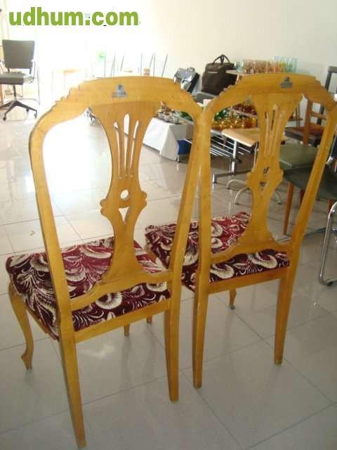 Pareja de sillas en madera para tapizar for Tapizar sillas de madera