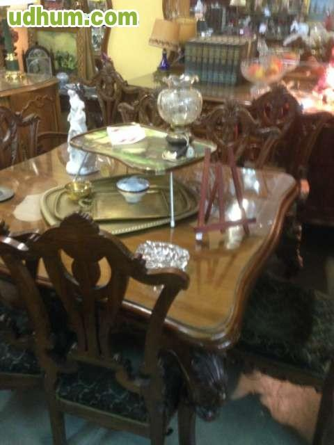 Conjunto de mesa 4 sillas y 2 sillones for Muebles poligono el manchon