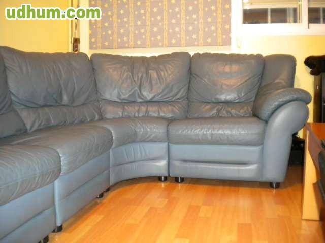 Sof de piel azul - Marcas de sofas de piel ...