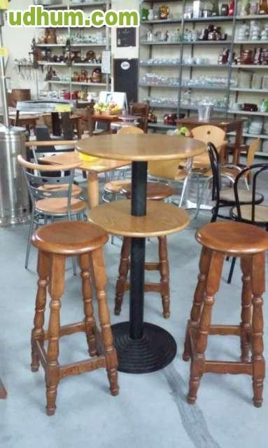 Mesas sillas hosteleria cafeteria barata for Mobiliario cafeteria segunda mano