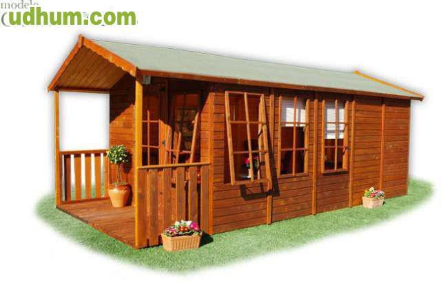 Casas de madera para su jardin for Casa madera jardin