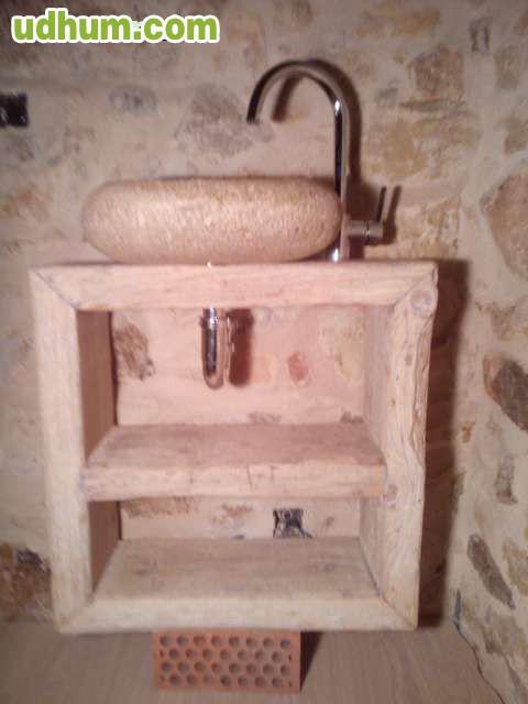 Mueble de ba o con piedra natural - Banos con piedra natural ...