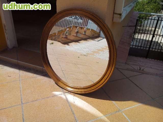 Espejo vintage redondo de madera for Espejo redondo vintage