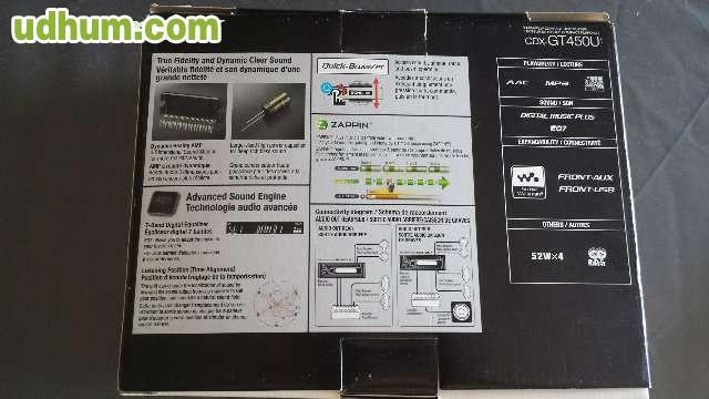 autorradio sony xplod cdx gt450u. Black Bedroom Furniture Sets. Home Design Ideas