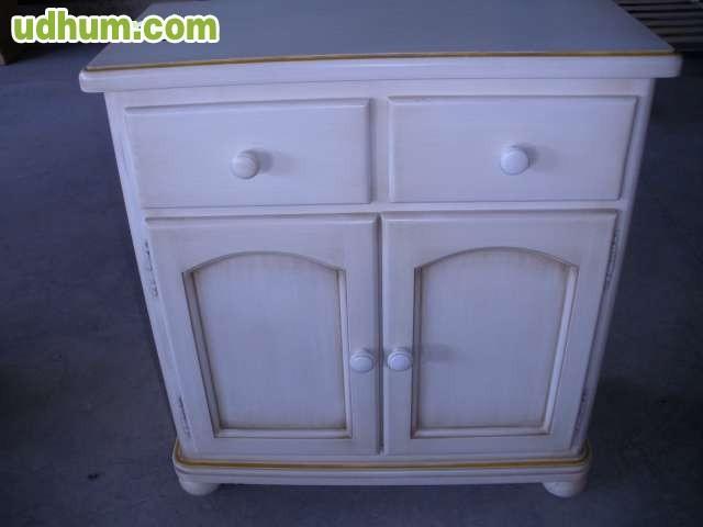 Mueble auxiliar o entrada blanco decape for Mueble auxiliar entrada