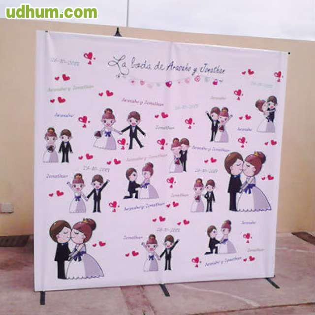Alquiler de photocall bodas y eventos for Fotocol de bodas