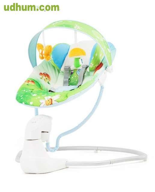 9654453ca Adecuado para recién nacidos. Se balancea de lado a lado. 5 velocidades con  LED de luz. Programable de 10, 20 y 30 minutos. Tonos musicales y naturales.
