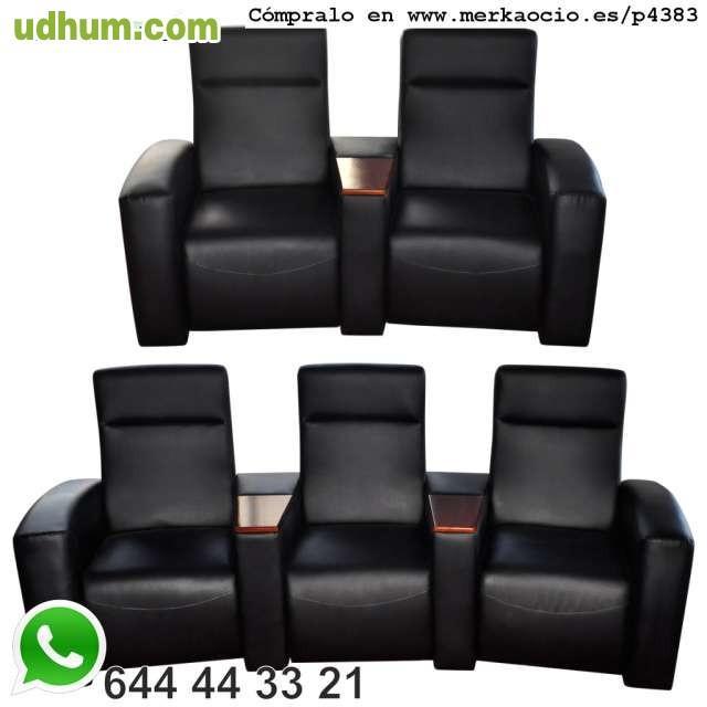 sofa de cuero de lujo cine en casa recli 1. Black Bedroom Furniture Sets. Home Design Ideas