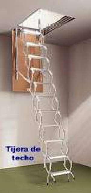 Escalera escamoteable techo metalica - Escalera de techo ...