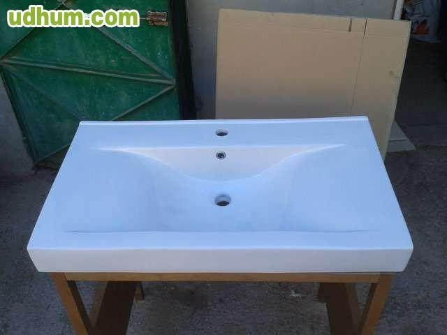 Pila de lavabo rectangular de 90 6 for Lavabo profundo