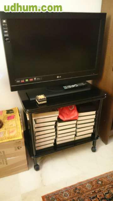 mueble tv con plataforma giratoria 1