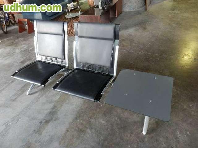 Bancada 2 asientos mesa for Mobiliario oficina tenerife