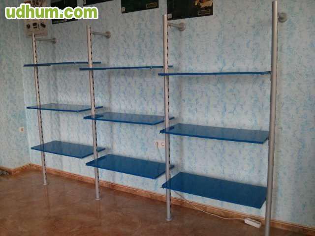 estanter a modular regulable tubular. Black Bedroom Furniture Sets. Home Design Ideas