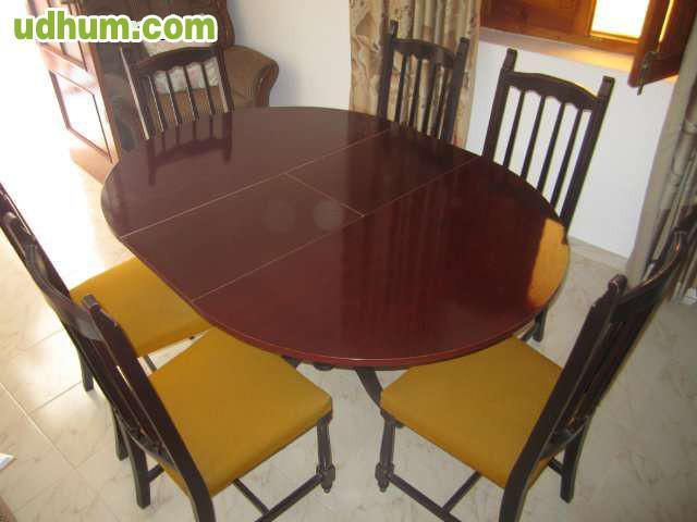 Mesa extensible y 6 sillas sal n comedor - Mesa circular extensible ...