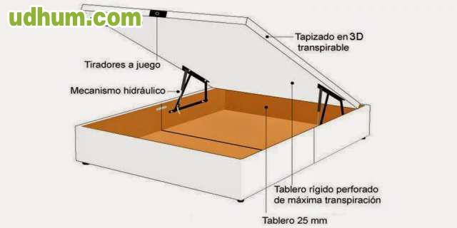 284 canap de madera m s colch n visco - Fabricar cama abatible ...