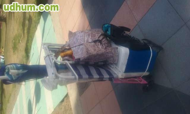 Carro porta utensilios para playa campin - Carro porta sillas playa ...