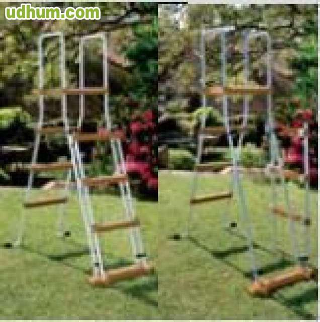 Piscina imitacion de madera for Piscinas familiares desmontables