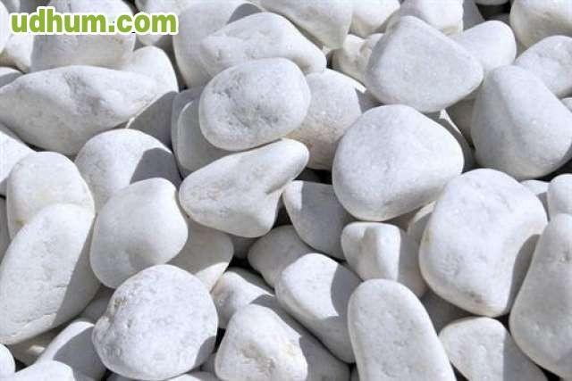 Piedras rodadas y gravas decorativas - Canto rodado blanco ...