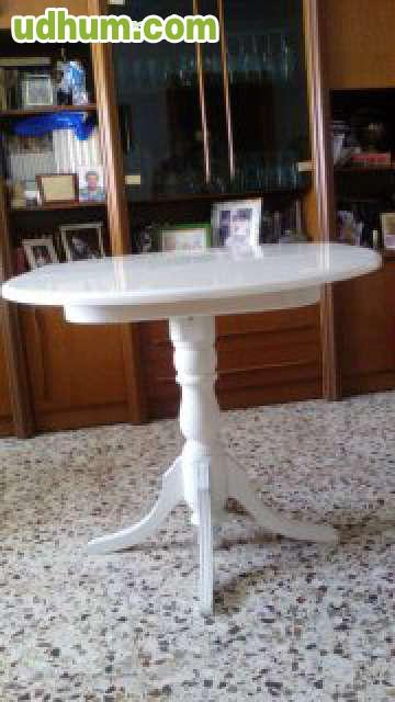 Mesa redonda extensible blanca vintage - Mesa redonda blanca extensible ...