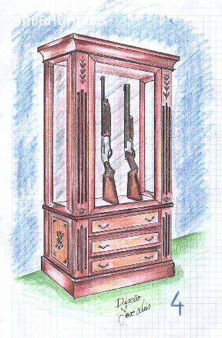 Vitrinas armas de coleccion for Muebles perdigon
