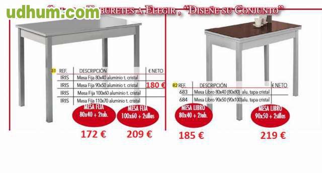 Mesas cocina baratas for Muebles ledesma