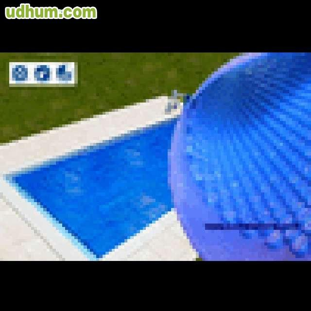Manta piscinas solar burbuja azul for Burbuja piscina