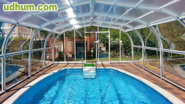 Cubierta de piscina de b veda de ca n for Canon piscina