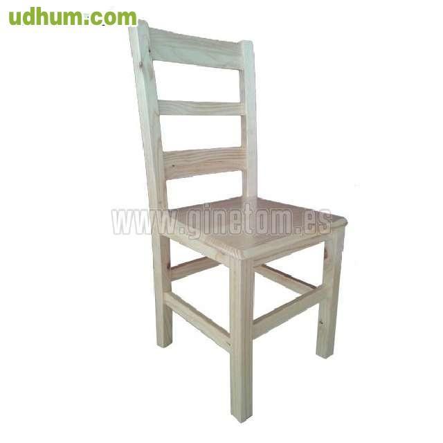 Sillas y mesas economicas de madera for Sillas comodas y economicas