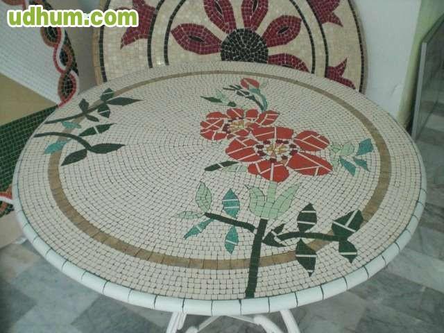 Mesa de mosaicos para jardin o terraza for Mesa mosaico jardin