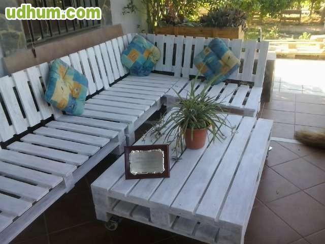 Muebles rusticos reciclados de palet 1 for Muebles de jardin con palets reciclados
