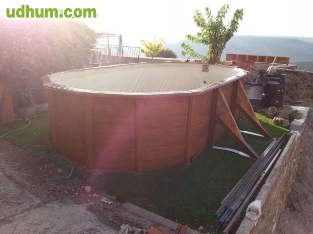 Piscina desmontable marca gre 5 5x3m for Vendo piscina desmontable