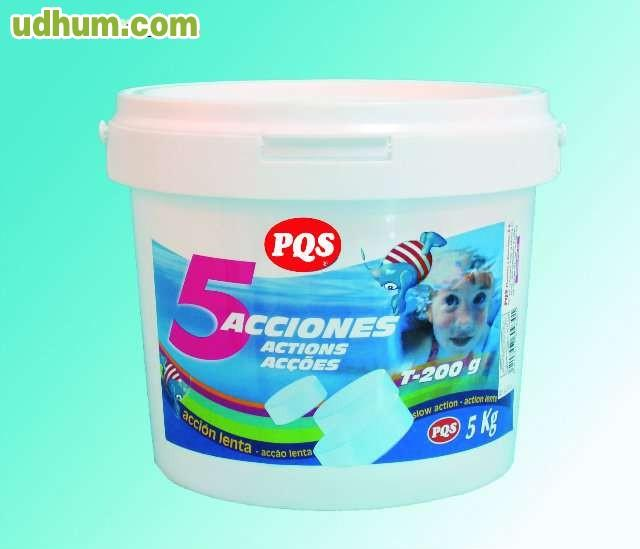 Cloro pqs 5 acciones 10 kg for Barrefondos piscina
