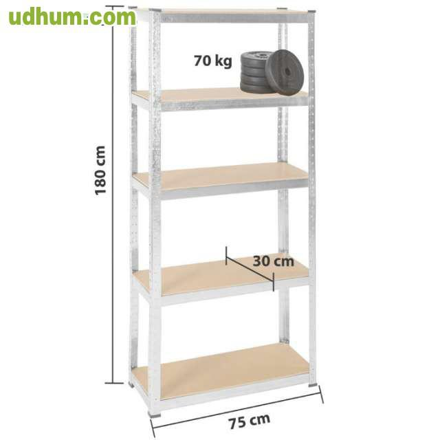 estanteria metalica garaje almacen 350kg. Black Bedroom Furniture Sets. Home Design Ideas