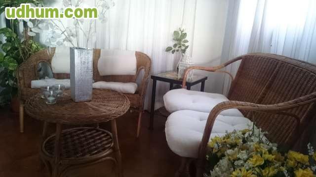 Sofas de mimbre y bambu y mesa - Sofas de mimbre ...