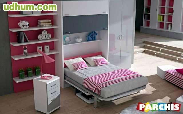 Parchis camas abatibles mueble juvenil for Mueble juvenil cama abatible