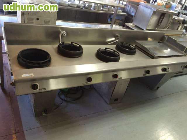 Cocina wok de 6 fuegos con turbo - Wok 4 cocinas granollers ...
